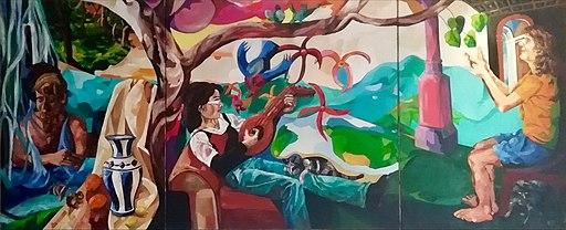 """Matthias Laurenz Gräff, Triptychon """"Einklang aller Naturlebewesen"""""""