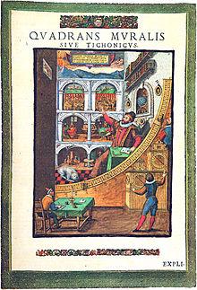 8a25561b4f54ab Estampe représentant le quadrant mural de Tycho Brahe (vers 1600).