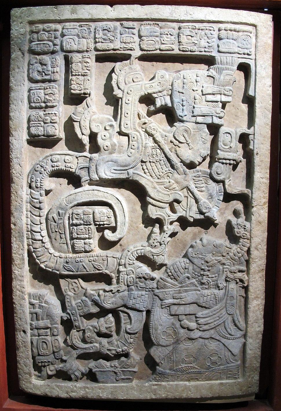 Maya, lintel 25, da yaxchilan, 725