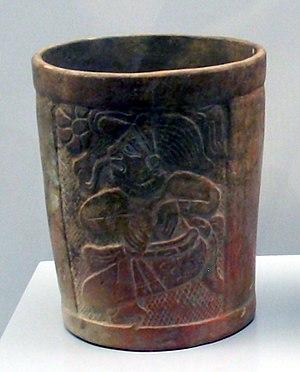 Salvadorans - Late Classic Maya cup from El Salvador. 600–900 AD.