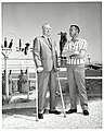 Mayor John F. Collins and Alan Shepard at Air Force Eastern Test Range, Cape Kennedy (now Cape Canaveral) (10158684824).jpg