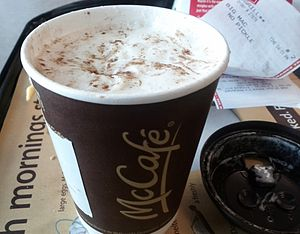 McCafé - A cup of hot chocolate sold in Canada under the McCafé brand