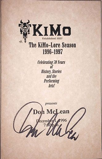 Don McLean - McLean's autograph from a 1996 concert in Albuquerque, New Mexico.