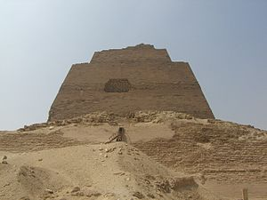 Sneferu - The Meidum pyramid.