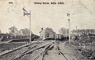 Eastern Union Railway - Mellis station about 1900