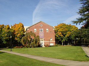 Linfield College - Melrose Hall from the academic quad.