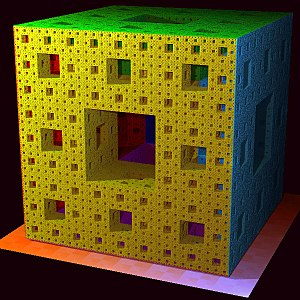 Iterated function system - Menger sponge, a 3-Dimensional IFS.