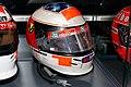 Michael Schumacher 1999 British GP helmet front-right 2019 Michael Schumacher Private Collection.jpg