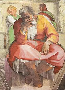 Jeremia op het plafond van de Sixtijnse Kapel &quot