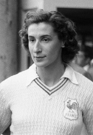 Micheline Ostermeyer - Ostermeyer at the 1950 European Championships