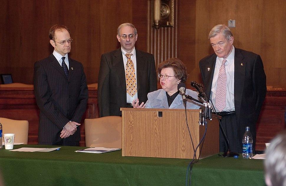 Mikulski, Bond, and Pierce at Alzheimer's Press Conference