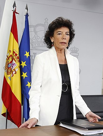 Ministry of Education (Spain) - Image: Ministra Celaá, junio 2018