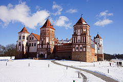 Mir castle in spring.JPG
