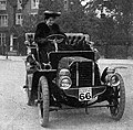 Miss Dorothy Levitt & the 12h.p. Gladiator car which she drove in a series of reliability trials in 1903.jpg
