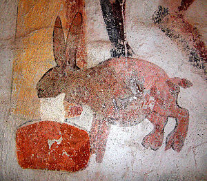 Troll cat - A related creature: the Swedish milk hare. Based on a 15th-century wall painting by Albertus Pictor, Uppsala County.