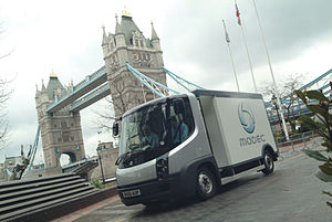 Jamie Borwick, 5th Baron Borwick - Electric Modec van outside City Hall