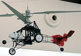 """Breguet-Dorand Gyroplane Laboratoire - Model of the """"Gyroplane Laboratoire"""" in scale of 1 : 11 as shown in the Hubschraubermuseum Bückeburg (Helicopter Museum)"""