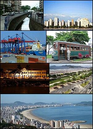 Santos, São Paulo - Image: Montagem Santos