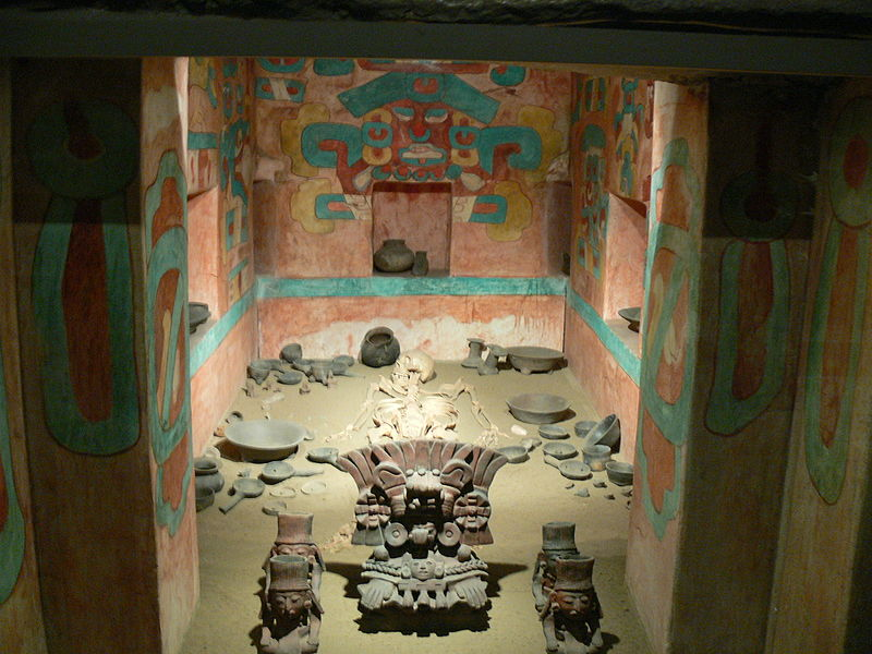 Reconstruction of Tumba 105 in Monte Albán, National Museum of Anthropology, Mexico City.