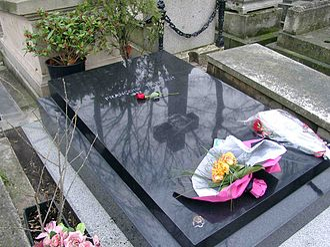 François Truffaut - Truffaut's grave in Montmartre Cemetery, Paris