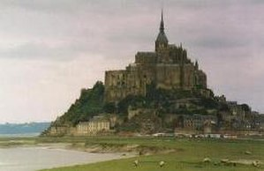 Aubert of Avranches - Aubert was ordered by the archangel Michael to start construction of what became Mont Saint-Michel