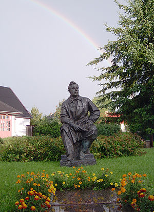 Saldus - Image: Monument of Janis Rozentāls. Saldus
