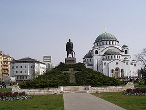 Vračar - Karadjordje and Temple of Saint Sava, on the Vračar plateau, where the Turks burned the remains of Saint Sava