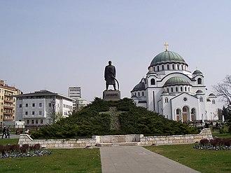 Vračar - Karadjordje and Temple of Saint Sava, on the Vračar plateau, where the Turks burned the remains of Saint Sava