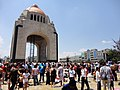 Monumento a la Revolución en un día caluroso.jpg
