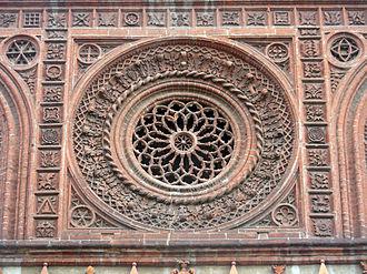 Carlo Maciachini - Geometric symbols on the facade of Santa Maria in Strada (Monza)
