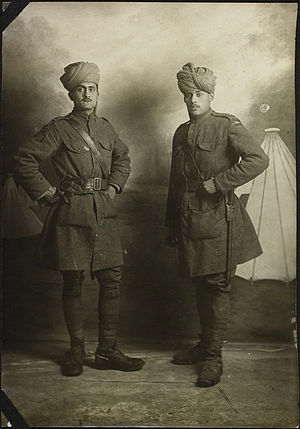 Indian Medical Service - Unidentified members of the IMS in France, during World War I.