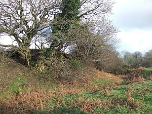 Eglwyswrw - Remains of Norman motte-and-bailey