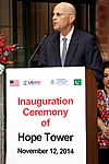 Mr Gregory Gottlieb, Mission Director in Pakistan, speaking at the inauguration. (15586216369).jpg