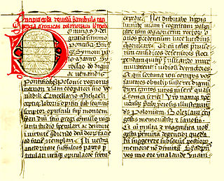 """medieval gesta concerned with Duke Bolesław III Wrymouth, his ancestors, and the Polish principality during and before his reign; probably completed in 1112–1118; extant in 3 manuscripts; its anonymous author is traditionally named Gallus (""""Irish"""")"""