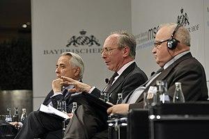 Malcolm Rifkind - Rifkind with American businessman Richard Burt, 2012