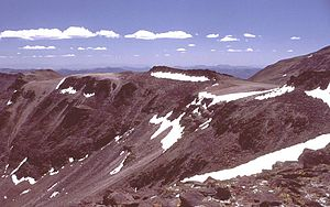 Toquima Range - Cliffs on the eastern flanks of Mt. Jefferson, in the Toquima Range.