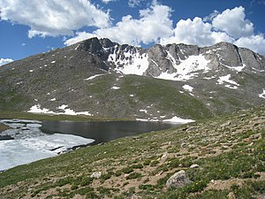 Mount Evans - Mount Evans with Summit Lake
