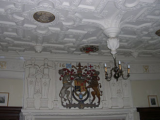 Muchalls Castle - King James VI Arms in the Great Hall
