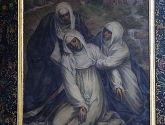 Stigmata - St Catherine fainting from the stigmata by Il Sodoma, Church of Saint Pantaleon, Alsace, France