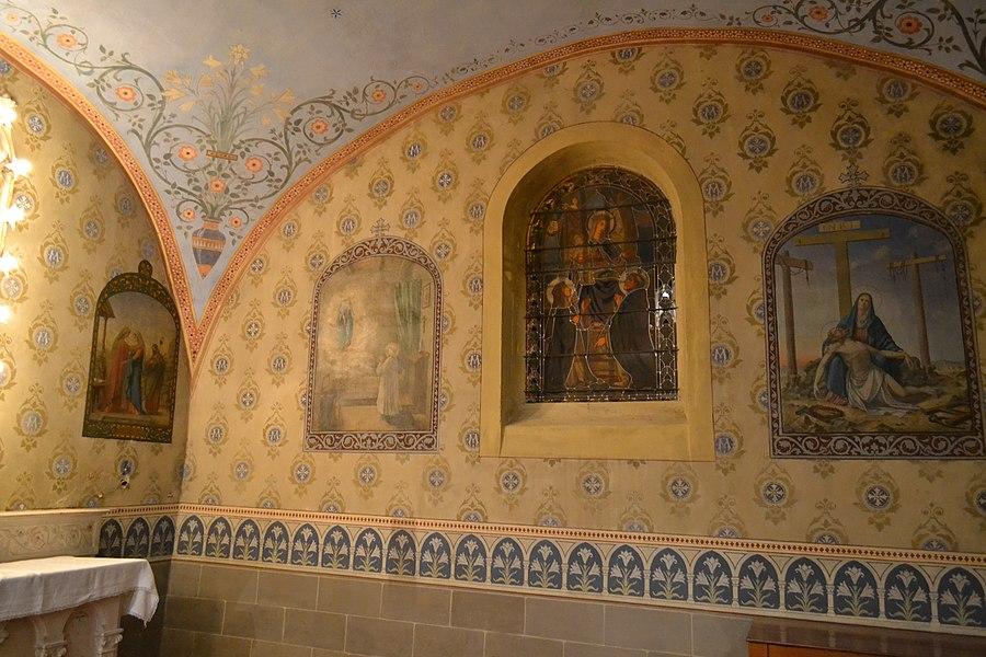 Peintures d'Alexis Douce de la Salle dans la chapelle de la Vierge de l'église de Leyment (Ain)