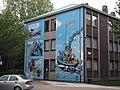 Mural in Antwerp, Kloosterstraat.JPG