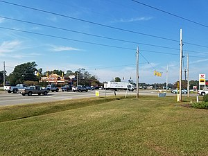 Murraysville, North Carolina - Central junction in Murrayville at Murrayville Road and NC Highway 132