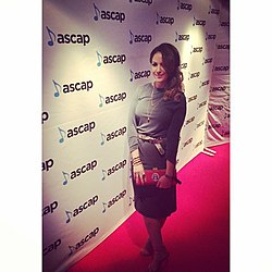 Photograph of musician Dani Senior at 2017 ASCAP awards ceremony