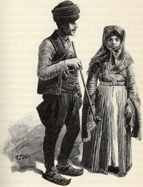 Muslim Gypsies from Bosnia, illustration, 1901