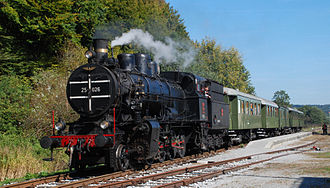 Slovenian Railways - Steam locomotive SŽ 25-026, manufactured in 1920 in Vienna, nowadays used by Slovenske železnice for tourist purposes