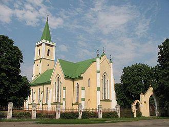 Horodyshche - The Mykhailivska Church in Horodysche (1844).