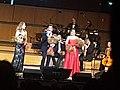 Myrsini Margariti, Marios Fragoulis, Vassiliki Karagianni at the Megaron, Athens 20171227.jpg