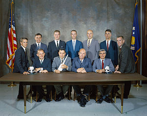 Brian O'Leary - The members of NASA Astronaut Group 6. O'Leary is at the far right.