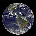 NASA GOES-13 Full Disk view of Earth Captured August 17, 2010 (4901623190).jpg