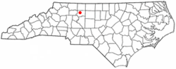 Location of Bethania, North Carolina